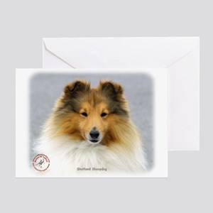 Shetland Sheepdog 9P033D-220 Greeting Card
