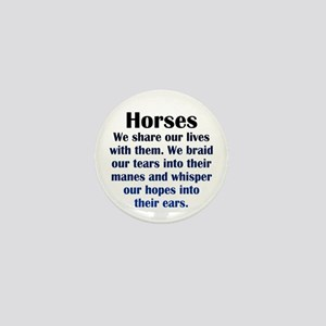 Importance of Horses Mini Button