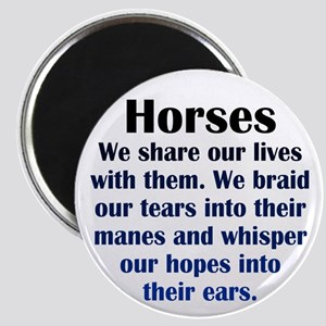 Importance of Horses Magnet