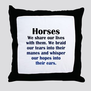 Importance of Horses Throw Pillow
