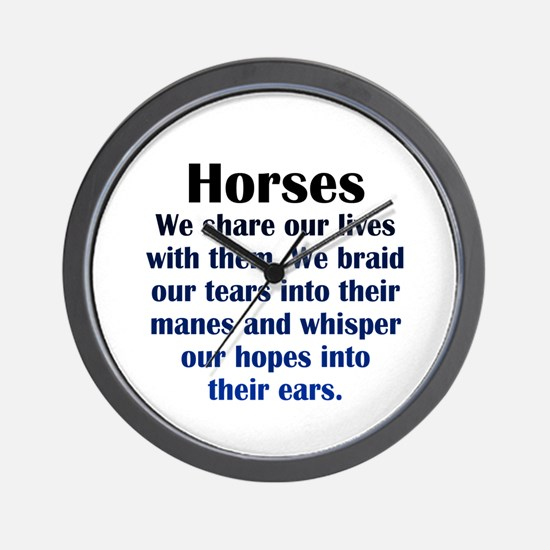 Importance of Horses Wall Clock