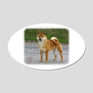 Shiba Inu 9T075D-026 22x14 Oval Wall Peel