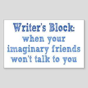 Writer's Block Sticker (Rectangle)