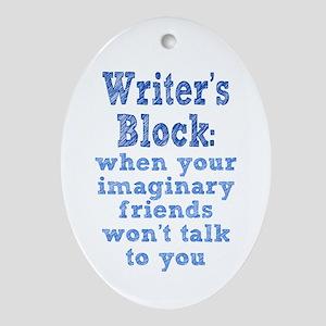 Writer's Block Ornament (Oval)