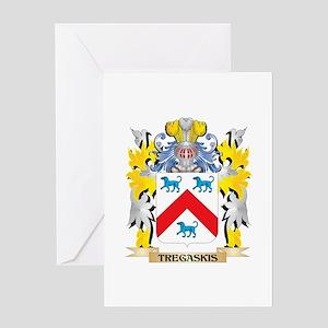 Tregaskis Family Crest - Coat of Ar Greeting Cards
