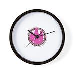 BreastCancerAwareness Wall Clock