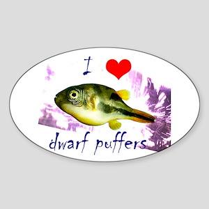 Dwarf puffer Sticker (Oval)