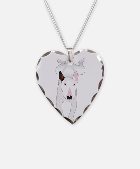 Cute Bull terrier Necklace Heart Charm