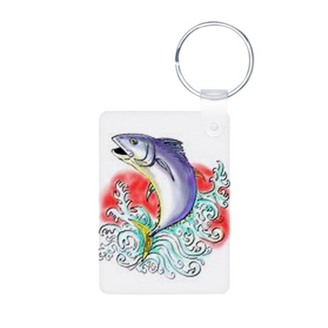 Bluefin Tuna Aluminum Photo Keychain