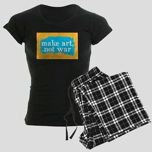 Make Art, Not War Women's Dark Pajamas