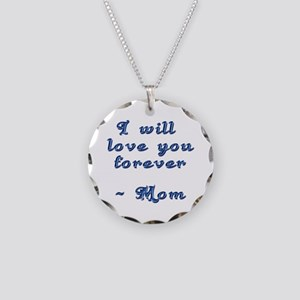 Mother's Love Necklace Circle Charm