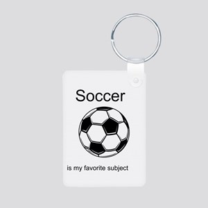 Soccer is my favorite subject Aluminum Photo Keych