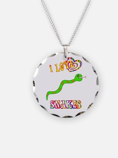 I Love Snakes Necklace