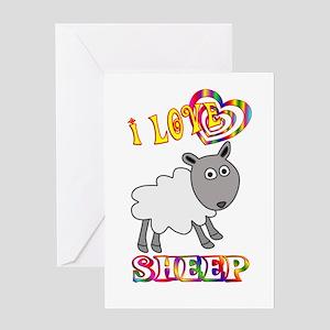 I Love Sheep Greeting Card