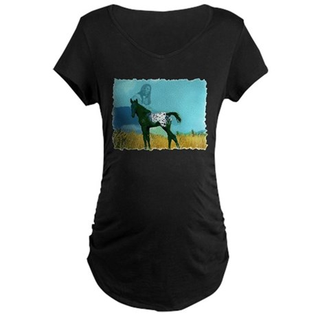 Nez Perce Pony Maternity Dark T-Shirt