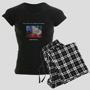 Hampster w/ a sunflower seed Women's Dark Pajamas