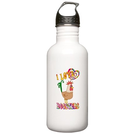 I Love Roosters Stainless Water Bottle 1.0L