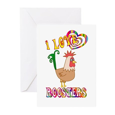 I Love Roosters Greeting Cards (Pk of 20)
