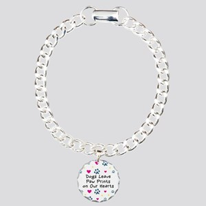 Dogs Leave Paw Prints Charm Bracelet, One Charm
