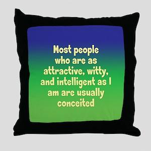 Humble Conceit Throw Pillow