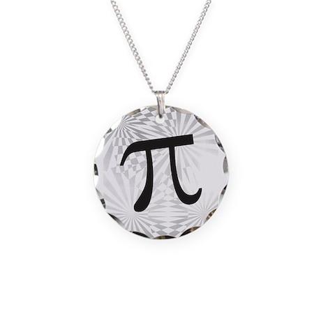 Retro Pi Necklace Circle Charm
