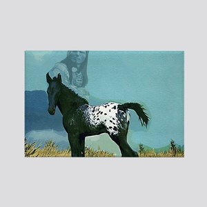 Nez Perce Pony Rectangle Magnet