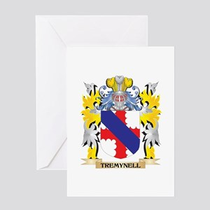 Tremynell Family Crest - Coat of Ar Greeting Cards