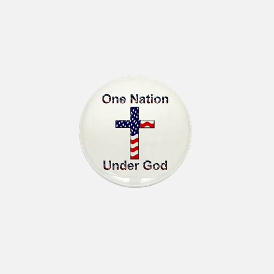 One Nation Under God Mini Button