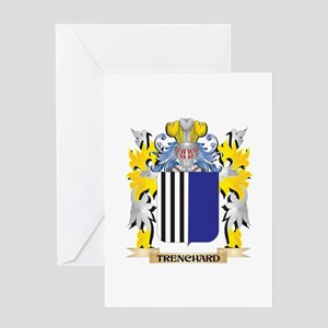 Trenchard Family Crest - Coat of Ar Greeting Cards
