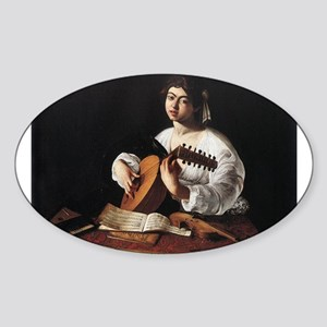 Lute Player Sticker (Oval)