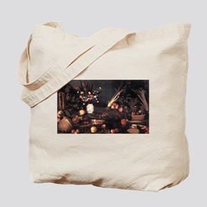 Still Life with Flowers and F Tote Bag