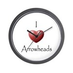 I Love Arrowheads Wall Clock