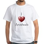 I Love Arrowheads White T-Shirt