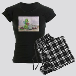 Whip Dip- Cute Little Dragon Women's Dark Pajamas
