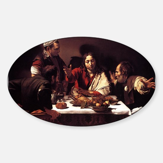 Supper at Emmaus Sticker (Oval)