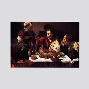 Supper at Emmaus Rectangle Magnet