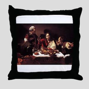 Supper at Emmaus Throw Pillow