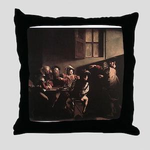 The Calling of Saint Matthew Throw Pillow