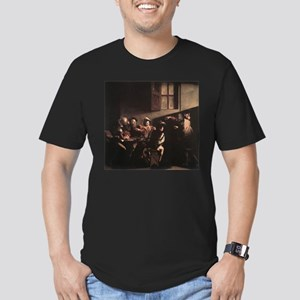 The Calling of Saint Matthew Men's Fitted T-Shirt