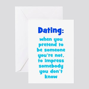 Dating Definition Greeting Card