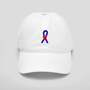 Blue Ribbon Heart Cap