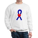 Blue Ribbon Heart Sweatshirt