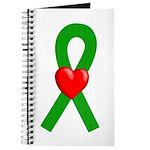 Green Ribbon Heart Journal