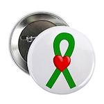 Green Ribbon Heart Button