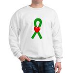 Green Ribbon Heart Sweatshirt
