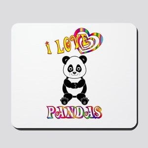 I Love Pandas Mousepad