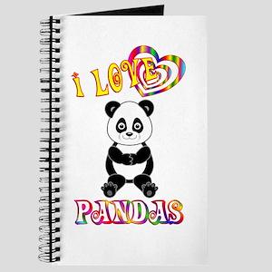 I Love Pandas Journal