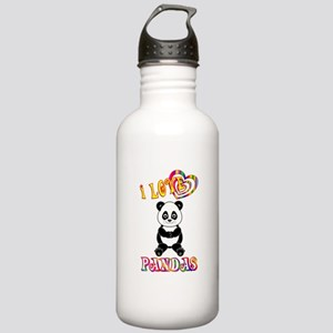 I Love Pandas Stainless Water Bottle 1.0L