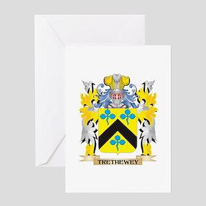 Trethewey Family Crest - Coat of Ar Greeting Cards