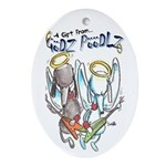 Godz Poodlz Ornament (Oval)